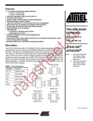 AT24C128N-10SC-2.5 datasheet скачать даташит
