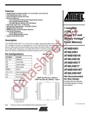 AT49LV001T-90JI datasheet скачать даташит