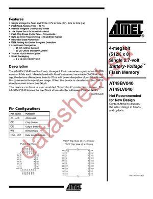 AT49LV040-12VI datasheet скачать даташит