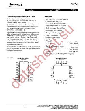 CP82C54-12Z datasheet скачать даташит