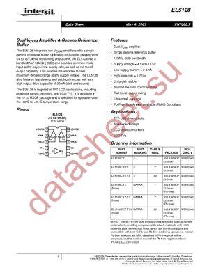 EL5128CY-T7 datasheet скачать даташит