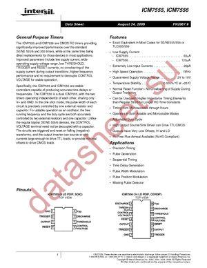 ICM7555IBAZ-T datasheet скачать даташит