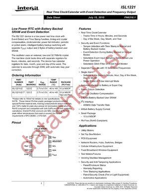 ISL1221IUZ-T datasheet скачать даташит