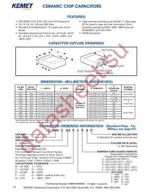 C0603C919K5GACTU datasheet скачать даташит
