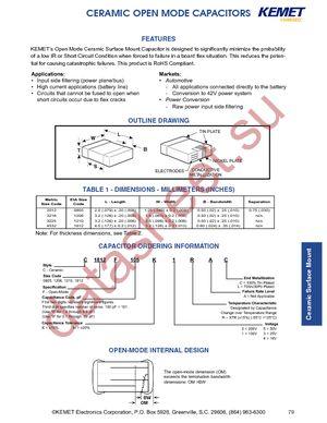 C1210F474K5RACTU datasheet скачать даташит