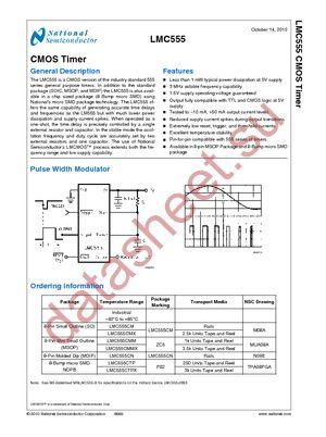 LMC555CMX/NOPB datasheet