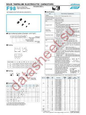 F980G476MMA datasheet скачать даташит