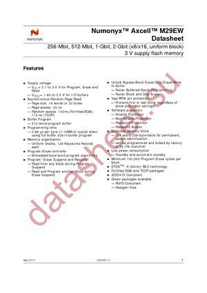 RC28F512M29EWHA datasheet скачать даташит