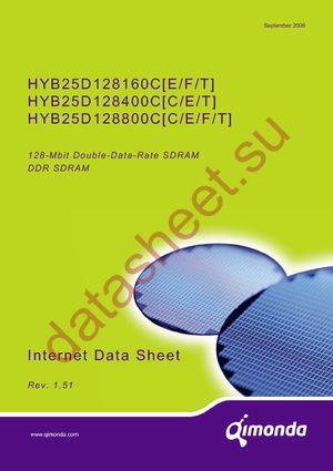 HYB25D128800CE-6 datasheet скачать даташит