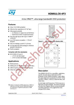 HDMIULC6-4F3 datasheet скачать даташит