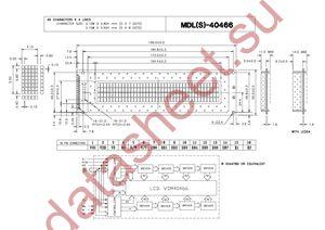 MDLS-40466-SS-G-HV-LED-04-G datasheet скачать даташит