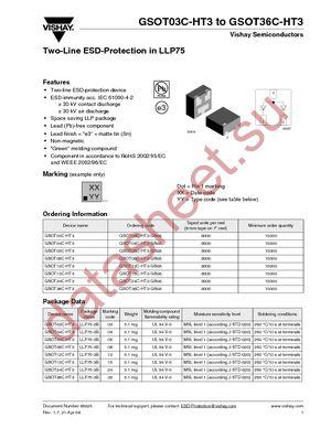 GSOT03C-HT3-GS08 datasheet скачать даташит