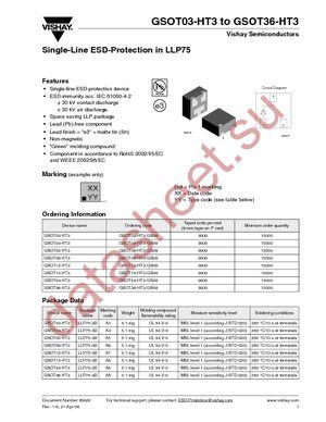 GSOT36-HT3-GS08 datasheet скачать даташит