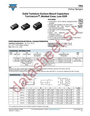 TR3C226K016C0350 datasheet скачать даташит