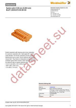 1949030000 datasheet скачать даташит